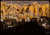 D&amp;RGW #483 engineer side - Chama - Cumbres area.<br /> D&amp;RGW  Chama &amp; Cumbres, NM