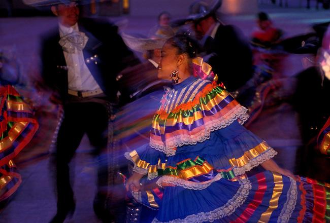 Costumed dancers National Hispanic Cultural Center, Albuquerque, Bernalillo County, New Mexico, United States, North America