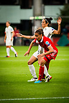 25.07.2017, Stadion Galgenwaard, Utrecht, NLD, Tilburg, UEFA Women's Euro 2017, Russland (RUS) vs Deutschland (GER), <br /> <br /> im Bild | picture shows<br /> Sara Doorsoun (Deutschland #15) gegen Natalya Solodkaya (Russland | Russia #2), <br /> <br /> Foto © nordphoto / Rauch