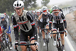 The peloton including Team Sunweb during a very wet and cold Stage 11 of the 2017 La Vuelta, running 187.5km from Lorca to Observatorio Astron&oacute;mico de Calar Alto, Spain. 30th August 2017.<br /> Picture: Unipublic/&copy;photogomezsport | Cyclefile<br /> <br /> <br /> All photos usage must carry mandatory copyright credit (&copy; Cyclefile | Unipublic/&copy;photogomezsport)
