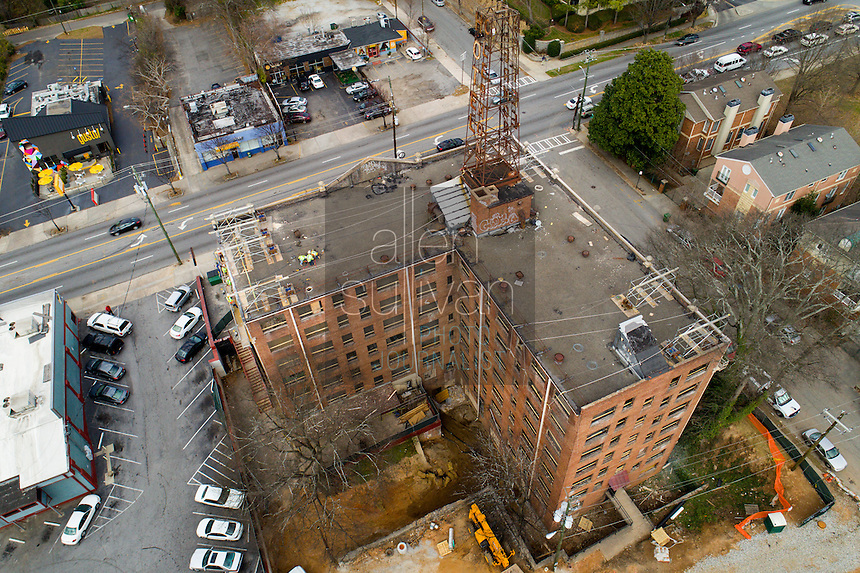 The Hotel Clermont in Atlanta, Georgia undergoing renovations in February, 2017.
