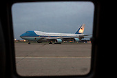 Air Force One with President Barack Obama and the First Family aboard arrives at Andrews Air Force base in Prince Georgia's County, Maryland on July 2, 2013 following a week long visit to Africa. <br /> Credit: Kristoffer Tripplaar  / Pool via CNP