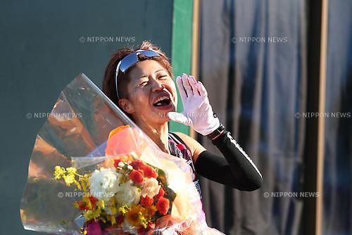 Kayoko Fukushi, .JANUARY 27, 2013 - Marathon : .2013 Osaka International Ladies Marathon, Start & Goal Nagai Stadium .in Osaka, Japan. .(Photo by Akihiro Sugimoto/AFLO SPORT)