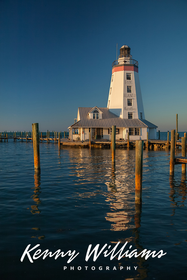 Faro Blanco Lighthouse, Marathon, Florida Keys, FL, USA.