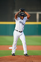 Lakeland Flying Tigers starting pitcher Gregory Soto (30) delivers a pitch during a game against the Tampa Tarpons on April 5, 2018 at Publix Field at Joker Marchant Stadium in Lakeland, Florida.  Tampa defeated Lakeland 4-2.  (Mike Janes/Four Seam Images)