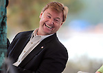 U.S. Sen. Dean Heller, R-Nev., reacts to a joke from U.S. Sen. Dianne Feinstein, D-Ca., at the 2012 Lake Tahoe Summit at Edgewood Tahoe in Stateline, Nev., on Monday, Aug. 13, 2012. The event, in its 16th year, brings political leaders from Nevada and California together to address issues related to preserving Lake Tahoe..Photo by Cathleen Allison