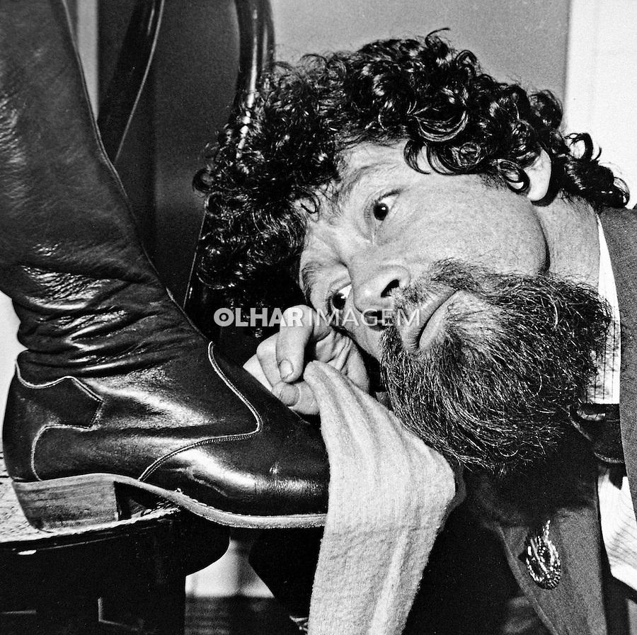 Pessoa. Personalidade. Cantor, musico e compositor Raul Seixas. 1984. Foto de Juca Martins.
