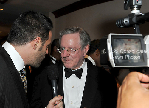 Washington, D.C. - May 9, 2009 -- Steve Forbes is interviewed as he attends one of the parties prior to the White House Correspondents Dinner in Washington, D.C. on Saturday, May 9, 2009..Credit: Ron Sachs / CNP.(RESTRICTION: NO New York or New Jersey Newspapers or newspapers within a 75 mile radius of New York City)