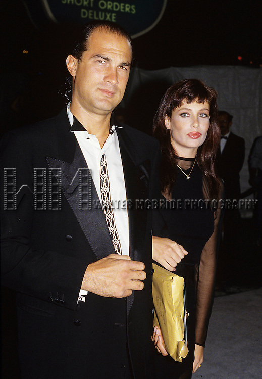 Steven Seagal and Kelly Lebrock in Los Angeles, California in 1984.