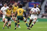 Joe Cokanasiga of England in possession. Quilter International match between England and Australia on November 24, 2018 at Twickenham Stadium in London, England. Photo by: Patrick Khachfe / Onside Images