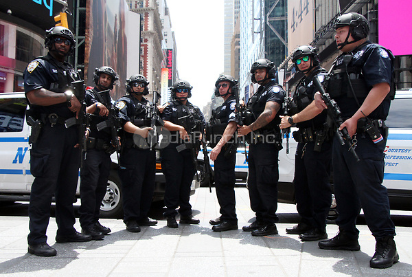 NEW YORK, NY June 22, 2017 NYPD Counter-terrorism Unit in Times Square in New York June 22 , 2017. Credit: RW/MediaPunch