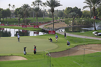 Gonzalo Fdez-Castano (ESP) on the 7th green during Round 1 of the Omega Dubai Desert Classic, Emirates Golf Club, Dubai,  United Arab Emirates. 24/01/2019<br /> Picture: Golffile | Thos Caffrey<br /> <br /> <br /> All photo usage must carry mandatory copyright credit (&copy; Golffile | Thos Caffrey)