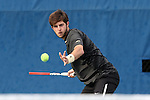 22 March 2015: Wake Forest's Keivon Tabrizi. The Duke University Blue Devils hosted the Wake Forest University Demon Deacons at Ambler Stadium in Durham, North Carolina in a 2014-15 NCAA Division I Men's Tennis match. Duke won the match 4-3.