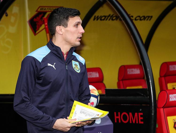 Burnley's Jack Cork pictured before the match<br /> <br /> Photographer Andrew Kearns/CameraSport<br /> <br /> The Premier League - Watford v Burnley - Saturday 19 January 2019 - Vicarage Road - Watford<br /> <br /> World Copyright &copy; 2019 CameraSport. All rights reserved. 43 Linden Ave. Countesthorpe. Leicester. England. LE8 5PG - Tel: +44 (0) 116 277 4147 - admin@camerasport.com - www.camerasport.com