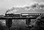 """10-5-2015:  Engine 461 steams uphill over  """"Quagmire Viaduct' at Barraduff in County kerry on Sunday pulling several carriages of tourists bound for Cork. The train was part of the Railway Preservation Society of Ireland's 46th Irish Railway Heritage Weekend and took in Belfast, Cobh, Cork, Dublin, Killarney, Midleton and Whitehead.<br /> Featuring Picture by Don MacMonagle"""