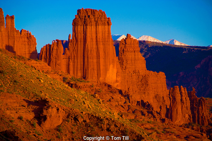 Fisher Towers               Colorado River, Utah      La Sal Mountains beyond   Proposed BLM wilderness near Moab