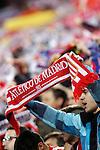 Atletico de Madrid's supporters during Champions League 2015/2016 Quarter-Finals 2nd leg match. April 13,2016. (ALTERPHOTOS/Acero)
