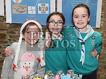 Alanna Campbell, Cheile Smith and Grace Conway at the Christmas fair in the Market house Duneer. Photo:Colin Bell/pressphotos.ie