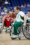 Australia defeats Mexico in the rounds of the women's wheelchair basketball at the London Paralympic Games, 4.9.12