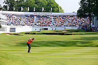 Peter Hanson (SWE) on the 18th during round 3 of the 2016 BMW PGA Championship. Wentworth Golf Club, Virginia Water, Surrey, UK. 28/05/2016.<br /> Picture Fran Caffrey / Golffile.ie<br /> <br /> All photo usage must carry mandatory copyright credit (© Golffile   Fran Caffrey)