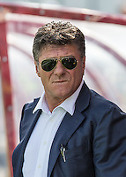 Watford Manager Walter Mazzarri takes charge of his first match during the Pre Season Friendly match between Woking and Watford at the Kingfield Stadium, Woking, England on 10 July 2016. Photo by Andy Rowland.