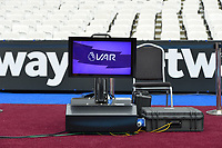 VAR Video Assistance monitor during West Ham United vs Manchester City, Premier League Football at The London Stadium on 10th August 2019