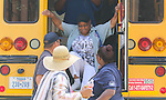 HISD's Transportation Services, in partnership with the Houston Fire Department, provided realistic emergency and rescue training to all bus drivers and attendants to prepare them to respond successfully to any crisis on a school bus.