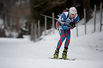 MARTELL-VAL MARTELLO, ITALY - FEBRUARY 02: HAKALA Matti (FIN) during the Men 10 km Sprint at the IBU Cup Biathlon 6 on February 02, 2013 in Martell-Val Martello, Italy. (Photo by Dirk Markgraf)