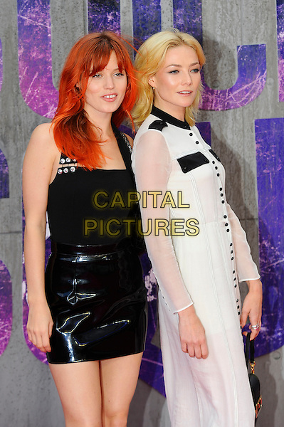 LONDON, ENGLAND - AUGUST 3: Georgia May Jagger and Clara Paget attending the 'Suicide Squad' European Premiere at Odeon Cinema, Leicester Square on August 3, 2016 in London, England.<br /> CAP/MAR<br /> &copy;MAR/Capital Pictures