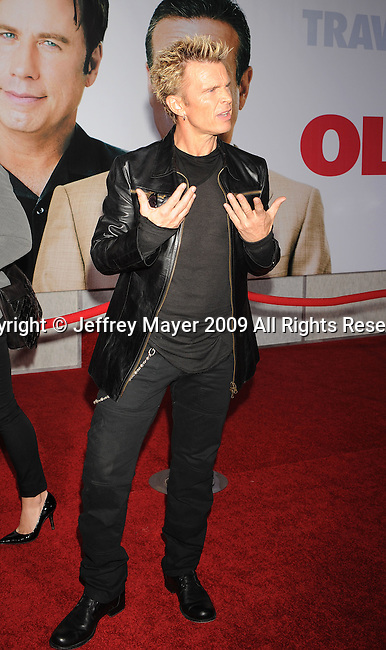 """HOLLYWOOD, CA. - November 09: Billy Idol arrives at the """"Old Dogs"""" Premiere at the El Capitan Theatre on November 9, 2009 in Hollywood, California."""