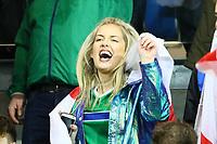 Fans aus Nordirland feiern - 05.10.2017: Nordirland vs. Deutschland, WM-Qualifikation Spiel 9, Windsor Park Belfast