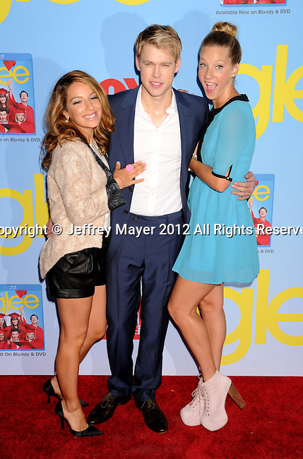 HOLLYWOOD, CA - SEPTEMBER 12: Vanessa Lengies, Chord Overstreet and Heather Morris arrive at the 'GLEE' Premiere Screening And Reception at Paramount Studios on September 12, 2012 in Hollywood, California.