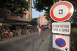 Village street, Calvi, West Coast Corsica, Corsica, France, towns in Corsica, French coastal villages, Corsican coast,