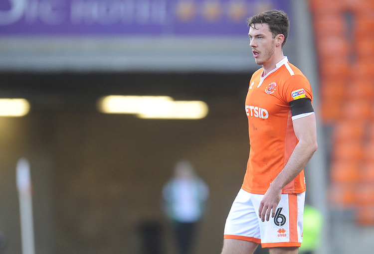 Blackpool's Ben Heneghan<br /> <br /> Photographer Kevin Barnes/CameraSport<br /> <br /> The EFL Sky Bet League One - Blackpool v Walsall - Saturday 9th February 2019 - Bloomfield Road - Blackpool<br /> <br /> World Copyright &copy; 2019 CameraSport. All rights reserved. 43 Linden Ave. Countesthorpe. Leicester. England. LE8 5PG - Tel: +44 (0) 116 277 4147 - admin@camerasport.com - www.camerasport.com
