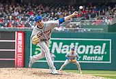 New York Mets relief pitcher Jerry Blevins (39) pitches to Washington Nationals right fielder Bryce Harper in the eighth inning against the Washington Nationals at Nationals Park in Washington, D.C. on Saturday April 7, 2018.  Blevins walked Harper. The Mets won the game 3-2.<br /> Credit: Ron Sachs / CNP<br /> (RESTRICTION: NO New York or New Jersey Newspapers or newspapers within a 75 mile radius of New York City)