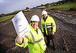 Minister for Transport Noel Dempsey T.D., pictured here with Peter Malone, Chairman of the NRA surveying one of the projects during the  launch of the 2008 National Roads Authority Roads Allocation Document. Pic. Robbie Reynolds