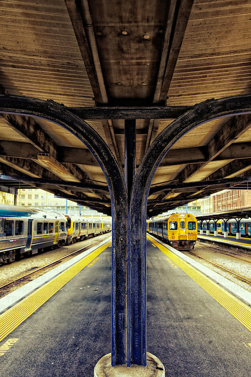 deserted train station platforms