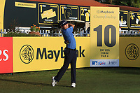 David Lipsky (USA) on the 10th tee during Round 1 of the Maybank Championship at the Saujana Golf and Country Club in Kuala Lumpur on Thursday 1st February 2018.<br /> Picture:  Thos Caffrey / www.golffile.ie<br /> <br /> All photo usage must carry mandatory copyright credit (© Golffile | Thos Caffrey)