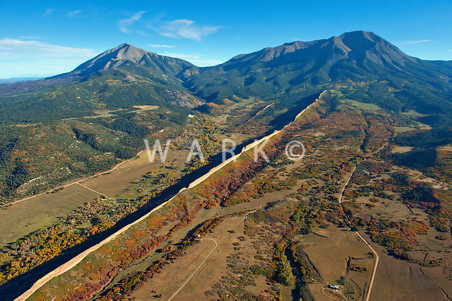 La Veta, Colorado. Fall 2013 with Spanish Peaks.