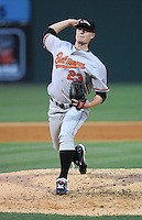 Pitcher Jesse Beal (23) of the Delmarva Shorebirds at the 2010 South Atlantic League All-Star Game on Tuesday, June 22, 2010, at Fluor Field at the West End in Greenville, S.C. Photo by: Tom Priddy/Four Seam Images
