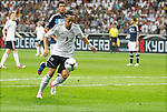 15.08.2012, Commerzbank Arena, Frankfurt, Freundschaftsspiel, Deutschland vs Argentinien, im Bild Mesut Oezil (8, Deutschland) stuermt in den Strafraum der Argentinier<br /> <br /> // during the friendly Match, Deutschland vs Argentinien, Commerzbank Arena, Frankfurt, Germany, on 2012/08/15<br /> Foto © nph / Sielski *** Local Caption ***