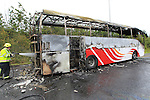 Bus Fire M1 North Drogheda