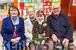 Ciara Ni Murchú with her grandparents Aine Ní Murchú, Helen O'Mahoney and Derry Ó Murchú at the Gaelscoil Mhic Easmainn Grandparents day on Thursday.