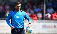 Lincoln City's assistant manager Nicky Cowley during the pre-match warm-up <br /> <br /> Photographer Andrew Vaughan/CameraSport<br /> <br /> Vanarama National League - Eastleigh v Lincoln City - Saturday 8th April 2017 - Silverlake Stadium - Eastleigh<br /> <br /> World Copyright &copy; 2017 CameraSport. All rights reserved. 43 Linden Ave. Countesthorpe. Leicester. England. LE8 5PG - Tel: +44 (0) 116 277 4147 - admin@camerasport.com - www.camerasport.com