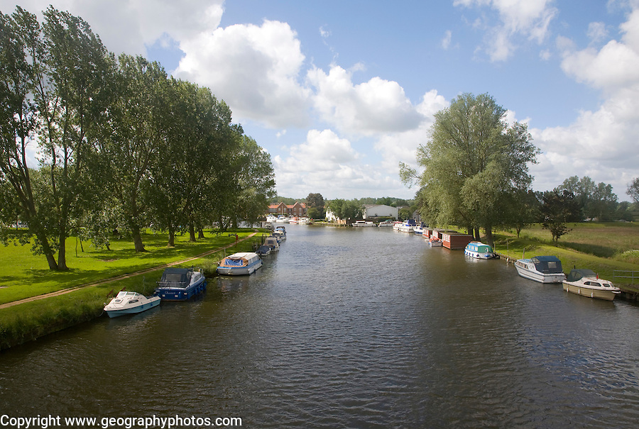Boats on the River Waveney, Beccles, Suffolk, England