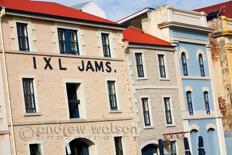 The former IXL Jam factory building - part of the historic architecture of Hunter Street on the Hobart waterfront.  Sullivans Cove, Hobart, Tasmania, Australia