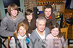 MEAL: The O'Callaghan Family from Clahane, ballyard, Tralee who headed to Bella Bia Tralee to bring in the New Year, on Friday night, Front l-r: Fiona, Kieran and Molly O'Callaghan. Back l-r: Andrew,Harry and james O'Callaghan...... . ............................... ..........