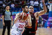 5th September 2017, Fenerbahce Arena, Istanbul, Turkey; FIBA Eurobasket Group D; Turkey versus Belgium; Shooting Guard Furkan Korkmaz of Turkey drives to the basket during the match