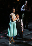 "Laura Osnes, Tony Yazbeck and Mark Linn-Baker during the Manhattan Concert Productions 25th Anniversary concert performance of ""Crazy for You"" at David Geffen Hall, Lincoln Center on February 19, 2017 in New York City."