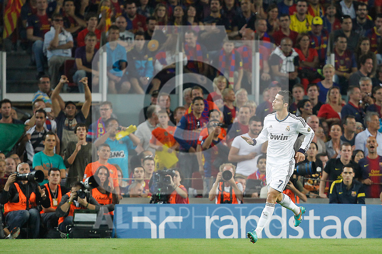 Real Madrid's Cristiano Ronaldo goal during la Liga match on october 7th 2012. ..Photo: Cesar Cebola  / ALFAQUI